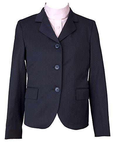 DEVON-AIRE Kids Nouvelle Stretch Show Coat, Navy Pin, Size -