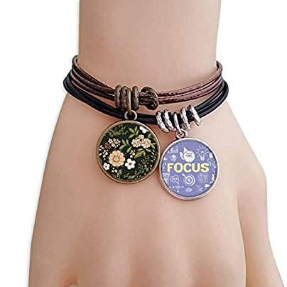SeeParts White Wild Flower Plant Paint Bracelet Rope Wristband Force Handcrafted Jewelry Estimated Price £9.99 -