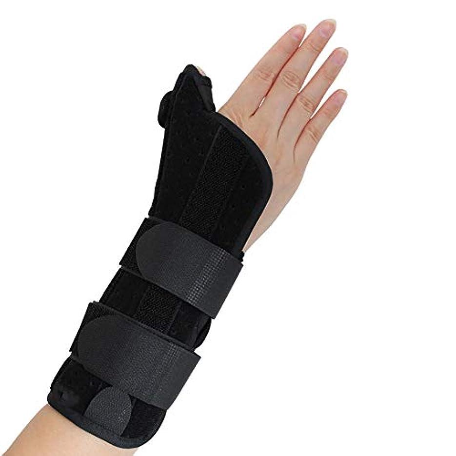 ロビーコジオスコヒューズ腱鞘炎、手根管痛、腱炎、関節炎、捻rain、骨折前腕サポートキャスト用の親指スピカスプリント付き手首装具,M