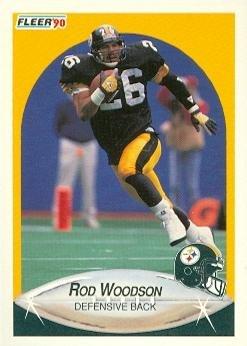 ee2edf701 Amazon.com: Rod Woodson Football Card (Pittsburgh Steelers) 1990 ...