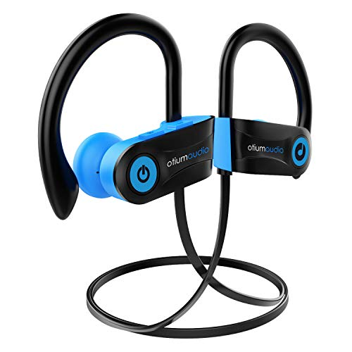 Bluetooth Headphones, Otium Audio Wireless Sports Earbuds, Waterproof IPX7 w/Mic, HD Stereo in-Ear Earphones, Case, Fast Pairing, Gym Running Workout, 7-9 Hrs Battery Noise Cancelling Headsets (Best Ear Clip Headphones Reviews)