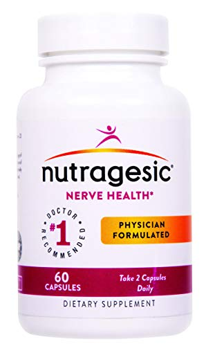 Nutragesic Nerve Health: Nutritional Support for Diabetic and Neuropathic Pain Relief. Includes Bioactive Folate, and a Proprietary Blend of Benfotiamine and Alpha-Lipoic Acid.