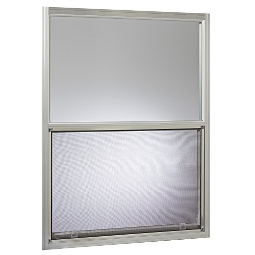 Park Ridge AMHMF3040PR Aluminum Mobile Home Single Hung Window 30 Inch x 40 Inch, Mill Finish Silver by Park Ridge Products