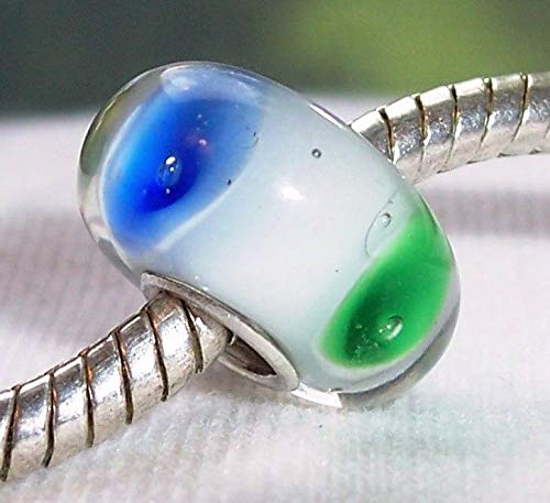 Green Blue Orange Single Core Murano Glass Bead for European Slide Bracelets Crafting Key Chain Bracelet Necklace Jewelry Accessories -