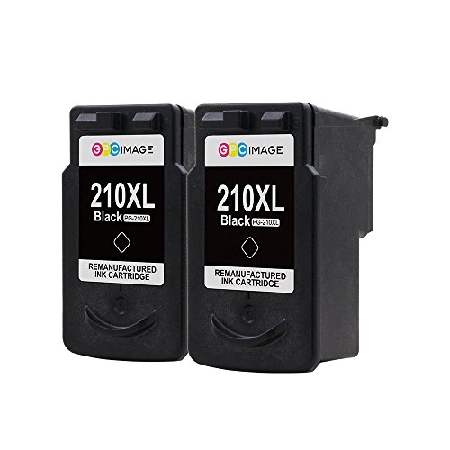 GPC Image 2 Black Remanufactured Ink Cartridge (InkLevel Chip) Replacement for Canon PG-210XL 210XL 210 XL High Yield (2 Black) for Canon PIXMA iP2702 MP495 MP240 MX410 MP280 MP480 MX360 MX420 Printer Photo #4