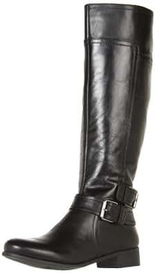 Nine West Women's Shiza Knee-High Boot,Black Austin Leather,5 M US