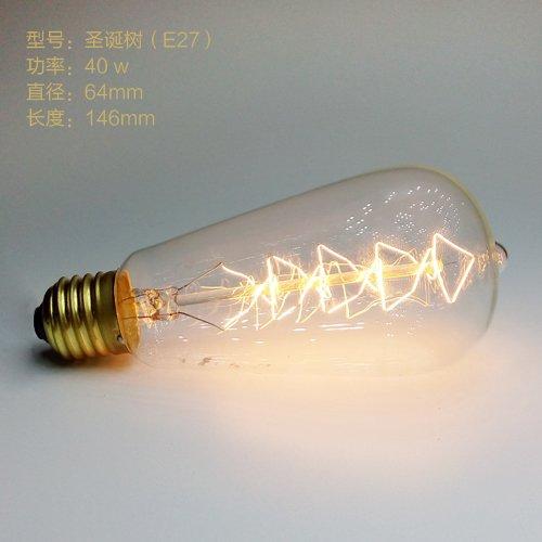 Precio mayorista,Vintage,Incandiscent Creative Edison Bombilla bombillas para la decoración del salón,Dormitorio,ST64...