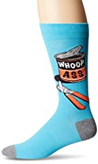 These novelty crew socks by K. Bell are perfect for any time of the year and for any occasion, whether you use them for dress socks for work or casual socks with sneakers. The novelty design of these socks is stylish & fashionable to make...
