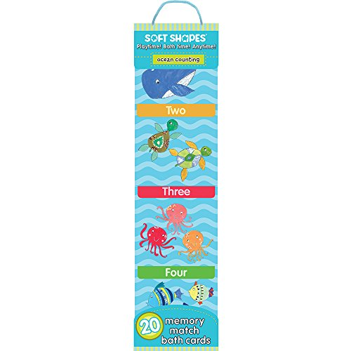 Innovative Kids Soft Shapes Memory Match Bath Cards Ocean Counting Bath Game
