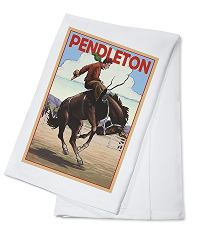 Pendleton, Oregon - Bucking Bronco (100% Cotton Kitchen Towel) ()