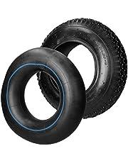 ECD Germany Kruiwagenband met binnenband 4.80/4.00-8 - Ø 400 x 100 mm - tot 120 kg - lamellenprofiel - zwart - reserveband afdekband kruiwagenband pneumatisch wiel