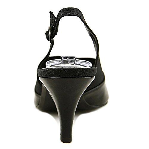 J. Renee J0006 Donna Ci 6.5 Tallone Slingback Nero