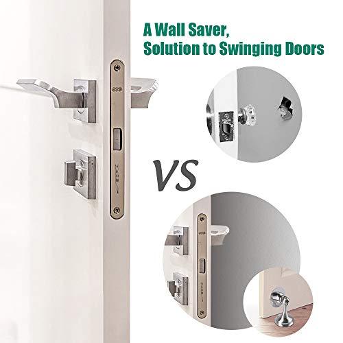 Door Stopper,2 Pack Magnetic Door Stops, Stainless Steel Door Catch, No Need to Drill - 3M Double-Sided Adhesive Tape, Keep Your Door Open, Door Stopper from Heleman Photo #4
