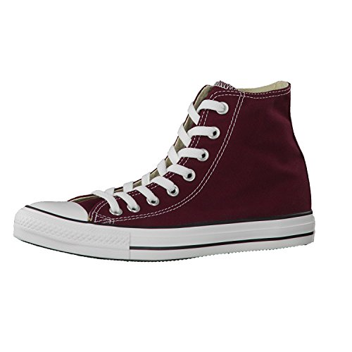 Converse Womens Chuck Taylor High Hight Top Lace Up, Burgundy, Size 15M Us (Star Burgundy)