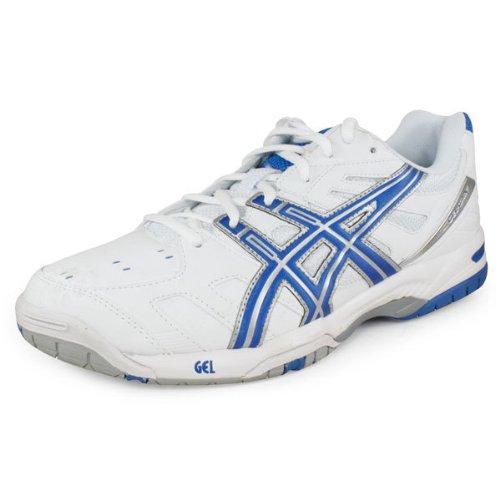 ASICS Men's Gel-Game 4 Tennis Shoe,White/Royal Blue/Silver,7 M US
