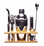 Eight Piece Stainless Steel Cocktail Shaker Set by DragonEra Products. Perfect gift for men, cocktail lovers, hosts, housewarming gatherings and holidays. Everything you need to entertain!
