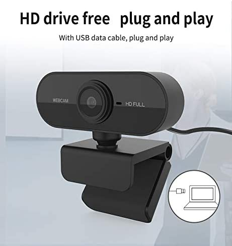 Video Recording,Calling Computer Camera with Microphone Conferencing Laptop USB PC Webcam Gaming,Live Streaming Widescreen Webcam HD 1080p Webcam