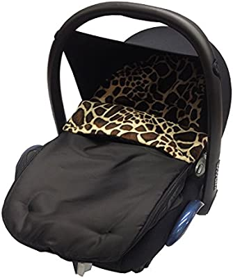 ANIMAL PRINT CAR SEAT FOOTMUFF//COSY TOES COMPATIBLE WITH GRACO