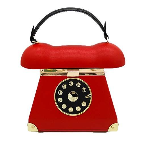 Honor Style Pu Female Rosso Evening colore Maybesky Phone Handbag Dame Retro Girl rosso Cq6nRSx