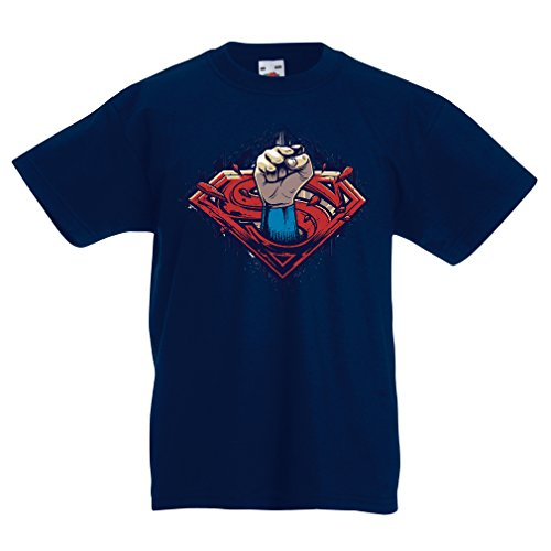 lepni.me Kids T-Shirt My Superhero, Awesome Party Outfits, Great Gift Ideas (14-15 Years Dark Blue Multi Color)