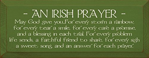 Sawdust City Wooden Sign - an Irish Prayer (Old Moss)