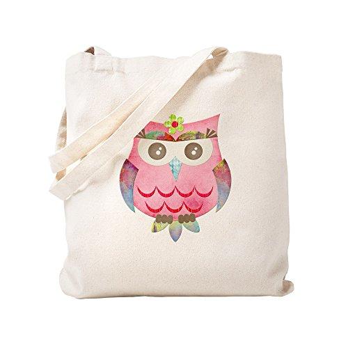 CafePress Pink Gypsy Owl Natural Canvas Tote Bag, Cloth Shopping Bag