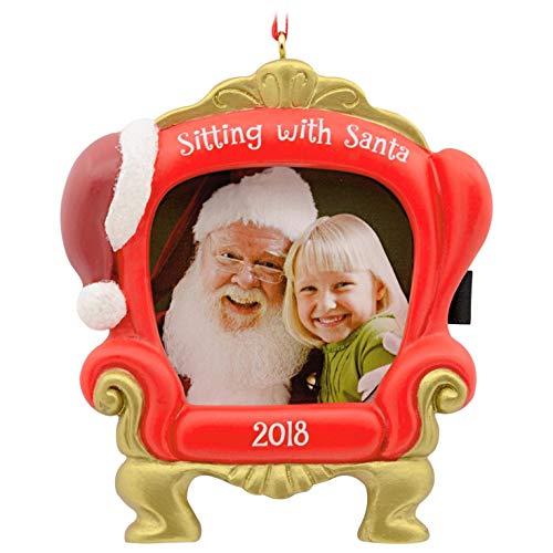 - Hallmark Sitting with Santa 2018 Picture Frame Ornament Santa Claus