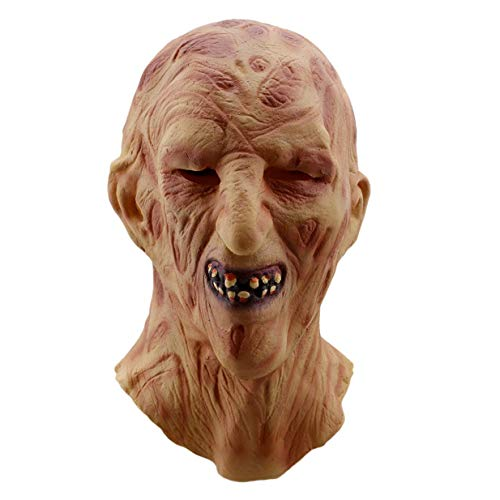 Potelin Premium Halloween Melt Face Masks Horror Zombie Latex Mask Adults Costume Party -