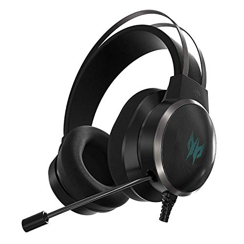 Acer Predator Galea 500 Gaming Headset, EQ Controller, 3D soundscape Technology, Virtual 7.1 Surround Sound and Gyro…