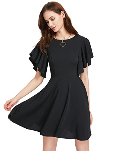 Womens Flutter Sleeve Dress - 3