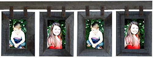 - Vertical Basic Barnwood CONESTOGA 4 Opening Picture Frame Collage for (4) 5x7 Photos. Rustic Recliamed Barn Wood Multiframe, Farmhouse Wall Decor. Multiple color options. AllBarnwood