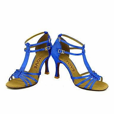 Zapatos Salsa de Azul Personalizado Latino fuchsia Morado Blanco Rojo Personalizables Negro baile Amarillo Rosa Tacón UUvOqrwd