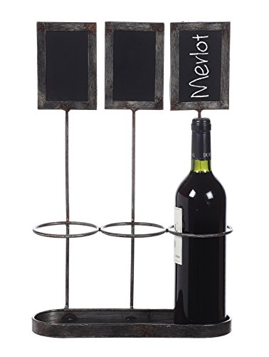 Creative Co op Bottle Holder Chalkboard