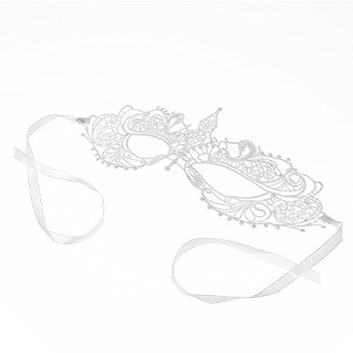 ZOVIE Sexy Lace Masquerade Masks For Nightclub Dance Fancy Ball Halloween (P) (Laser Photo Halloween Costume)