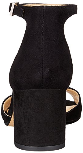Sam Edelman Women's Susie Heeled Sandal, Black Suede, 10 M US Black Suede