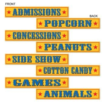 Circus Sign Cutouts (4/Pkg) - Circus Costumes