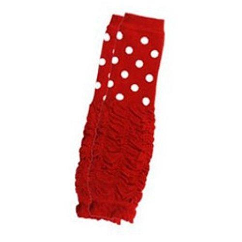 eonkoo BabyLegWarmersChildrenKneePadKidsStockingSockLeggingsArmLegWarmforCrawling1-3Y(red) (Pink Fluffies Leg Warmers)