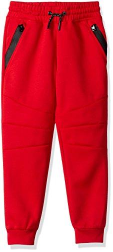(Southpole Little  Boys' Kids Tech Fleece Jogger Pants, Red, X-Large)