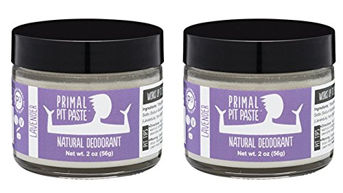 Primal Pit Paste Natural Deodorant Lavender 2 Ounce Jar (Pack Of 2)