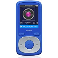 Wiwoo 8GB MP3/MP4 Player With FM Radio/Voice Recorder, With Independent Lock & Volume Control,Expandable Up to 64GB,Works 20 Hours(Blue)