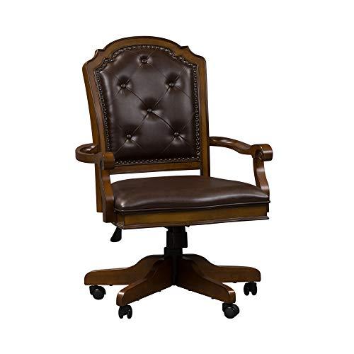 Liberty Furniture Industries Amelia Jr Executive Office Chair, W26 x D27 x H42, Medium Brown