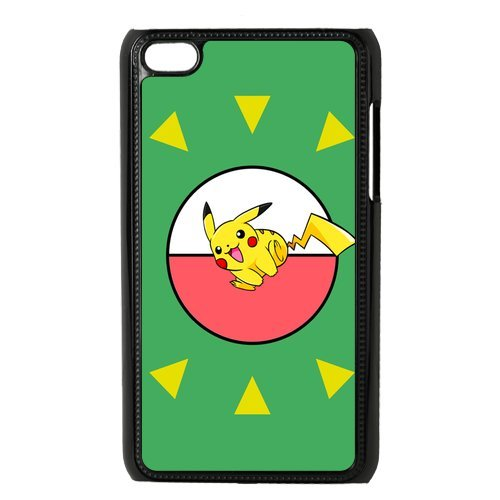 Case.Store-Pikachu Phone Case Customized Hard Snap-On Plastic Case for iPod Touch 4, 4th Generation Cases iPod 4 TY065 (Generation Ipod Case 4th Pikachu)