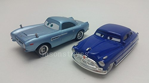 Car Toys Pixar 1:55 Scale Diecast Finn Mcmissile & Doc Hudson Metal Toy and Car Collectors