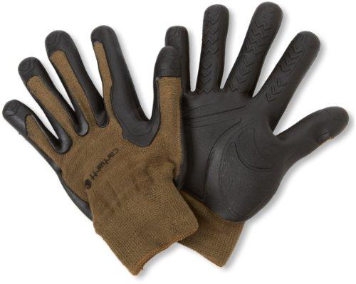 Carhartt Men's C-Grip Pro-Palm High Dexterity Vibration Reducing Glove, Army, Small/Medium