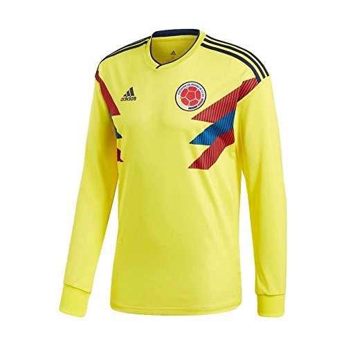 (Adidas Colombia Home Replica Jersey World Cup Russia 2018 [Long Sleeve] (XS))