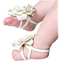 DZT1968® Baby Girl Cloth Foot Flower Shoes Barefoot Sandals 1 Pair