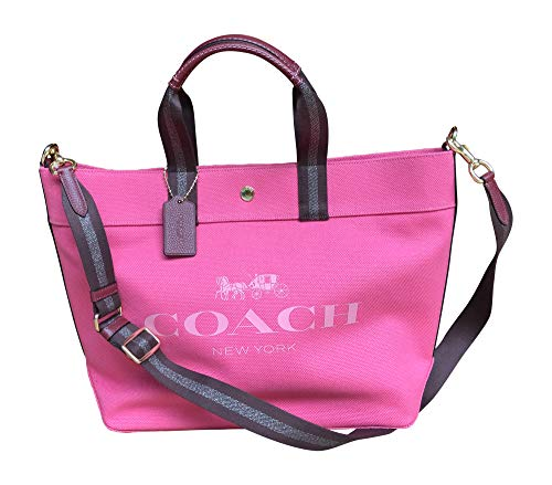 Coach Canvas and Leather X-Large Tote Bag, Pink - Handbag Pink Coach