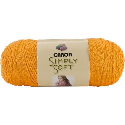 Caron Simply Soft Brites Yarn (4) Medium Gauge 100% Acrylic - 6oz - Orange -  Machine Wash & Dry