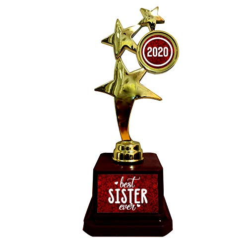 TheYaYaCafe Bhaidooj Gift for Sister, Best Sister Ever Sister Trophy Award for Sister Golden Price & Reviews
