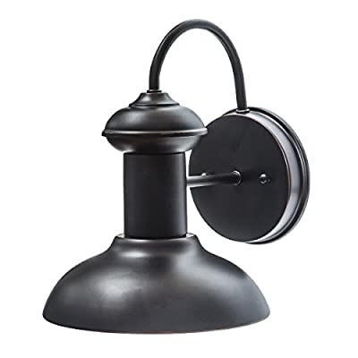 "Globe Electric 40190 Wall Sconce, 9.75"", Oil Rubbed Bronze - Indoor/outdoor compatible: suitable for any environment this piece is fully water resistant and versatile Dimmable: fully dimmable with compatible dimmer switch to create the perfect atmosphere Easy install: includes all mounting hardware for quick and easy installation - patio, outdoor-lights, outdoor-decor - 41tNxqWMOLL. SS400  -"